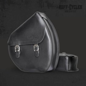 Accessories Side Bag, Leather Black Right Side