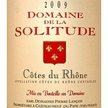 Dm Solitude Domaine Solitude Cote-Du-Rhone-Rouge 2015<br /> Rhone, France