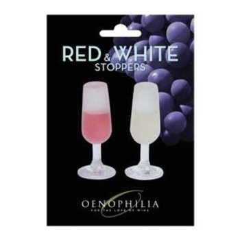 Oenophilia Red &amp; White Wine Stoppers<br />2 Pack