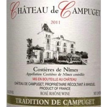 Ch de Campuget Ch de Campuget Tradition Red Blend 2012<br />Costieres de Nimes, France