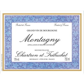 Kysela Chartron et Trebuchet Montagny Blanc 2013<br /> Burgundy, France
