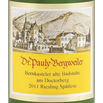 Dr Pauly Bergweiler Dr. Pauly Bergweiler Bernkasteler Badstube Riesling Spatlese 2011 <br />Mosel, Germany<br />92pts-WS