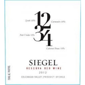 Siegel Siegel Reserve 1234 Red Chile 2015   Colchague Valley, Chile