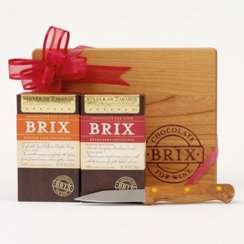 Brix Brix 2-Piece Gift Set with Cutting Board & Knife 2 x 8 oz. Bars