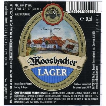 Moosbacher Moosbacher Lager Beer