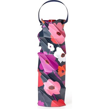 Joseph Grace Built NY Origami Wine Gift Bag-Floral