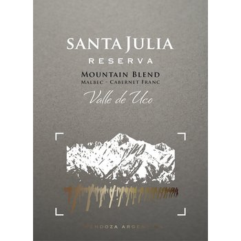 Santa Julia Santa Julia Reserva Mountain-Blend 2014  Uco Valley, Argentina