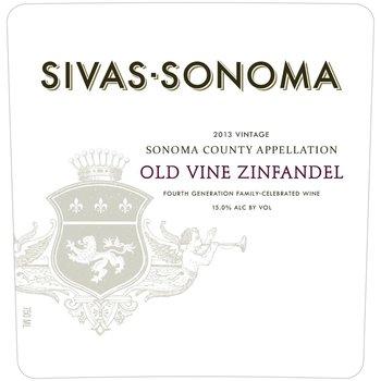 Sivas-Sonoma Sivas-Sonoma Old Vine Zinfandel 2014 <br /> Sonoma, California