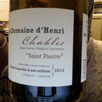 Le Domaine d'Henri Le Domaine d'Henri Saint Pierre Chablis 2015  <br /> Burgundy, France
