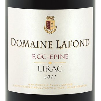 Dm Lafond Domaine Lafond Roc-Epine Lirac-Blanc 2015  Rhone, France