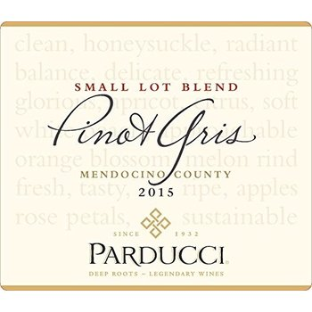 Parducci Parducci Small Lot Blend Pinot-Gris-2015  Mendocino, California