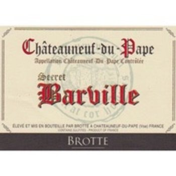Brotte Brotte Secret Barville Chateauneuf-du-Pape 2012  Rhone-France-92pts-RP