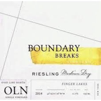 Boundry Breaks Vineyards Ovid-Line North Riesling 2014  Finger-Lakes, New York