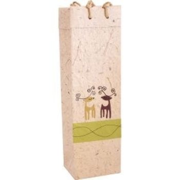 Bella Vita Caribou Handmade Paper Single-Gift Bag
