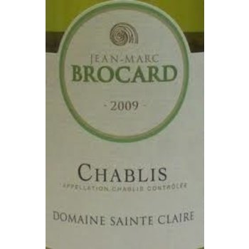 Brocard Jean Marc Brocard Domaine Sainte Claire Chablis 2015<br />Burgundy, France