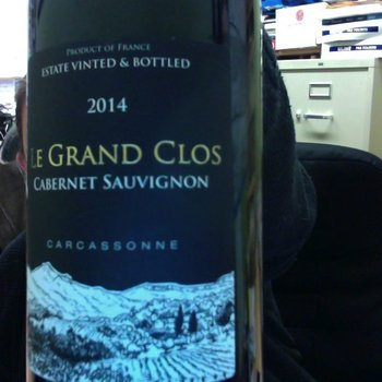 Le Grand Clos Le Grand Clos Cabernet Sauvignon 2014  Cite de Carcassonne, Southwest France