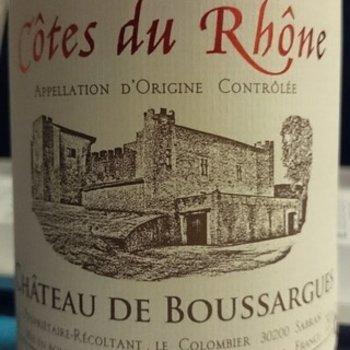 Ch de Boussargues Cotes du Rhone 2014 Rhone, France