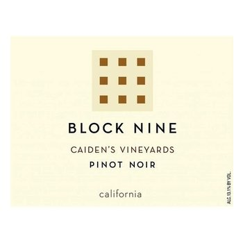 Block Nine Block Nine Caiden's Vineyards  Pinot Noir 2016<br />Napa/St. Helena, California