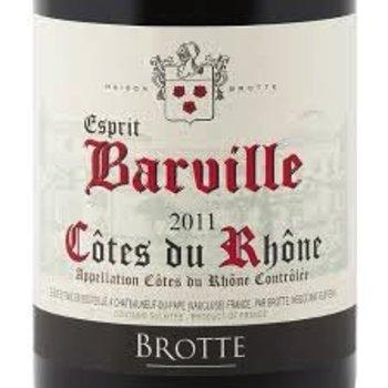 Brotte Brotte Esprit Barville Cotes du Rhone Red 2014  <br /> Rhone, France