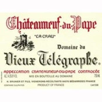 Dm Vieux Telegraphe Domaine du Vieux Telegraphe &quot;La Crau&quot; Chateauneuf-Du-Pape 2015<br />Rhone, France  92pts-V, 90pts-WA