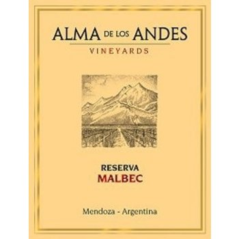 Alma De Los Andes Vineyards Alma De Los Andes Vineyards Reserva Malbec 2012  <br /> Mendoza, Argentina  91pts-WE