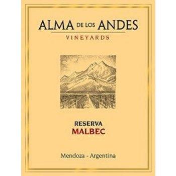 Alma De Los Andes Vineyards Alma De Los Andes Vineyards Reserva Malbec 2012  <br /> Mendoza, Argentina  91pts-WE