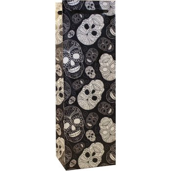 Bella Vita Sugar Skull Skeleton Single Wine-Bottle Bag