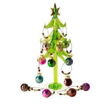 Bella Vita Ornamental Glass Tree With 12-Wine Glass Charm
