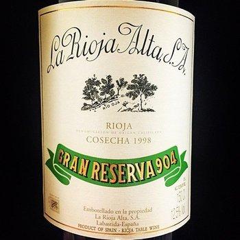 La Rioja Alta La Rioja Alta S.A. Gran Reserva 904 2007<br /> Rioja, Spain<br /> #65 Wine Spectator Top 100 of 2016   97pts-WS, 95pts-WA