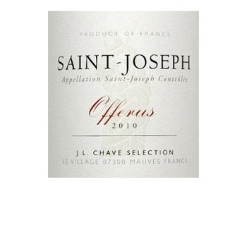Chave Domaine Jean-Louis Chave St. Joseph Offerus 2013<br />Rhone, France<br />91 pts WS, 91 pts V