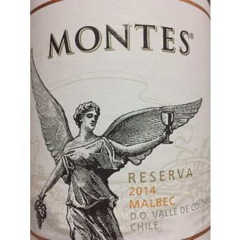 Montes Montes Reserve Malbec 2014<br /> Colchagua Valley, Chile