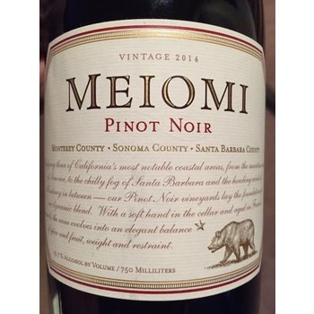 Meiomi Meiomi Pinot Noir 2016  California
