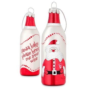 Epic Santa Baby Wine Bottle Ornament