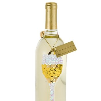 Epic Sequin Champagne Gift Tag 2-Pack