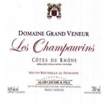 Alain Jaume Alain Jaume &amp; Fils Domaine Grand Veneur Les Champauvins Cotes du Rhone 2015<br />Rhone, France