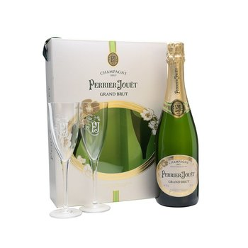 Perrier-Jouet Perrier Jouet Grand Brut Non-Vintage Champagne 2 Flute Gift Box<br />91pts-WS<br />Champagne, France