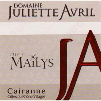 Dm Juliette Avril Domaine Juliette Avril Mailys Cairanne 2015<br /> Cotes du Rhone, France
