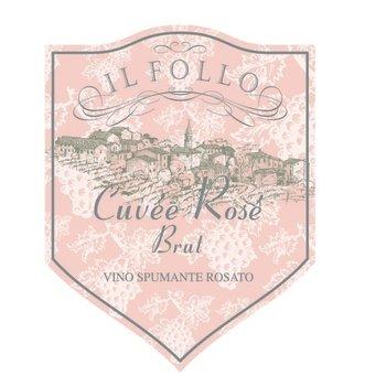 Il Follo Il Follo Sparkling Cuvee Rose Brut NV<br />Veneto, Italy