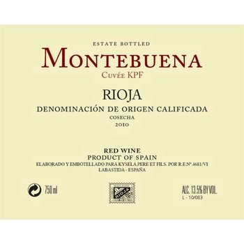 Montebuena Montebuena Rioja Tempranillo 2015<br />Rioja, Spain