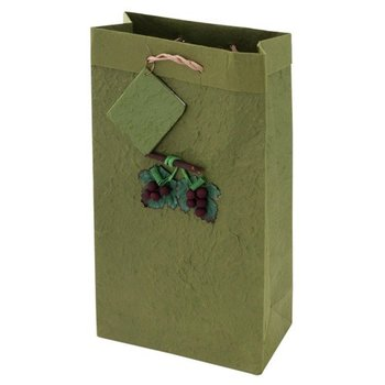 True Fabrications Lush Green Mulberry Grape Two Bottle Gift Bag