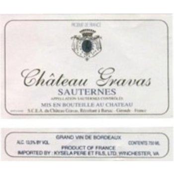 Ch Gravas Ch Gravas Sauternes 2014  375ml<br />Bordeaux, France