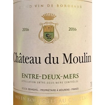 Chateau du Moulin Bordeaux Blanc Entre-Deux-Mers 2016<br /> Bordeaux, France