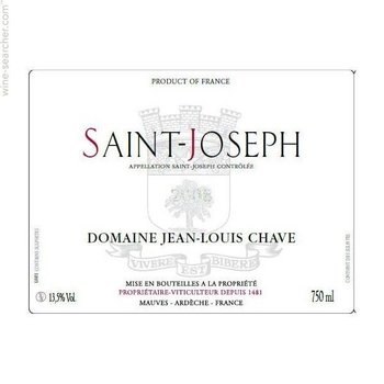 Chave Domaine Jean-Louis Chave Saint-Joseph 2013  <br /> Rhone, France  <br /> 93pts-WS &amp; V