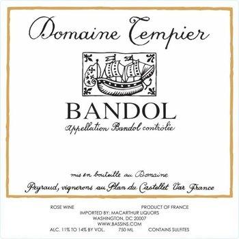 Dm Tempier Domaine Tempier Bandol Rose 2017<br /> Provence, France