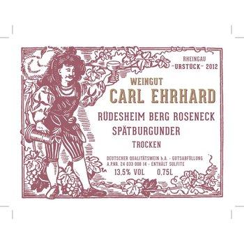 Carl Ehrhard Rudesheim Berg Roseneck Spatburgunder Trocken Pinot Noir 2015<br /> Rheingau, Germany<br /> 90pts-WE