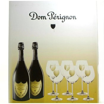Dom Perignon Gift Set Includes Two Bottles of 2009 Champagne and Six Free Glasses<br /> 97pts-JS, 96pts-WS &amp; D