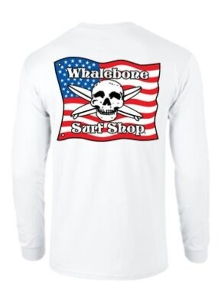 Whalebone Logo KIDS AMERICAN FLAG LONG SLEEVE TEE
