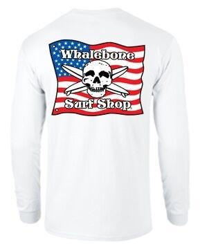 Whalebone Logo KIDS AMERICAN FLAG LONG SLEEVE TEE