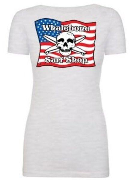 Logo *WOMENS AMERICAN FLAG SCOOP NECK SHORT SLEEVE TEE