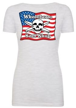 Logo WOMENS AMERICAN FLAG SCOOP NECK SHORT SLEEVE TEE